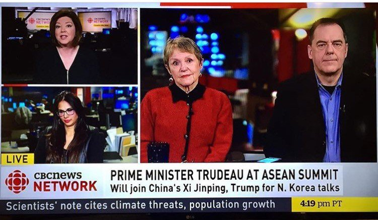 Muneeza speaks with Carole MacNeil on the CBC discussing the Asean Summit, and the Prime Minister's obligation to address the human rights atrocities in the Philippines.