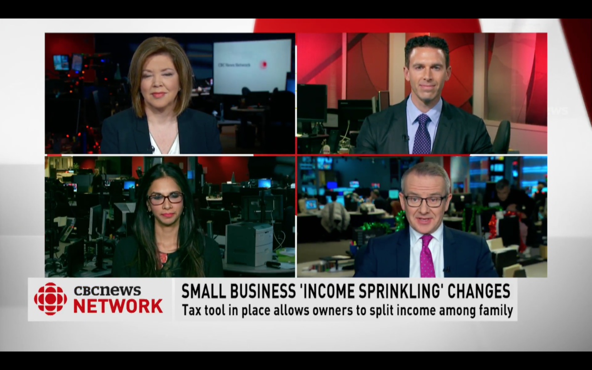 Small Business Income Sprinking Changes